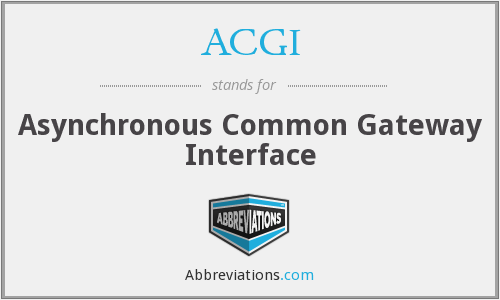 ACGI - Asynchronous Common Gateway Interface