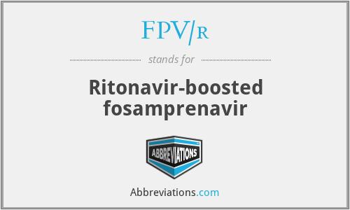 FPV/r - Ritonavir-boosted fosamprenavir