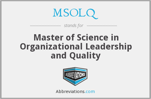What does MSOLQ stand for?
