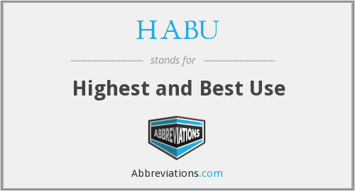 What does HABU stand for?