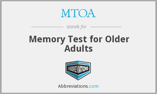 MTOA - Memory Test for Older Adults