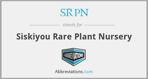 SRPN - Siskiyou Rare Plant Nursery