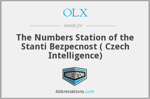 OLX - The Numbers Station of the Stanti Bezpecnost ( Czech Intelligence)
