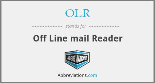 OLR - Off Line mail Reader