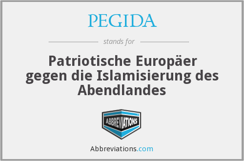 What does PEGIDA stand for?