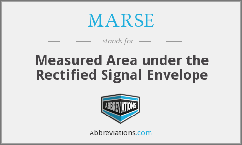 MARSE - Measured Area under the Rectified Signal Envelope