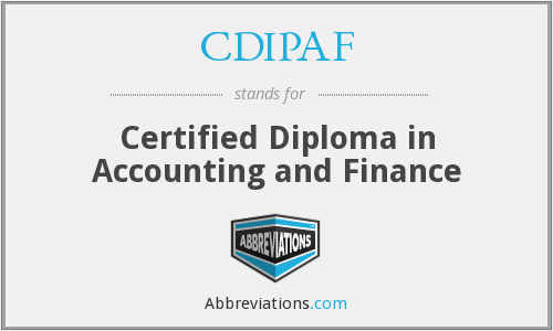 What does CDIPAF stand for?
