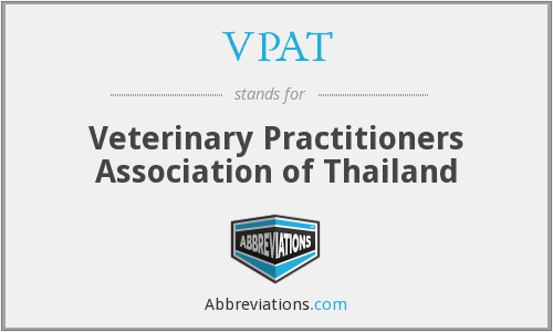 VPAT - Veterinary Practitioners Association of Thailand