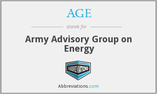 AGE - Army Advisory Group on Energy