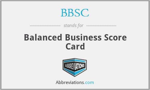 BBSC - Balanced Business Score Card