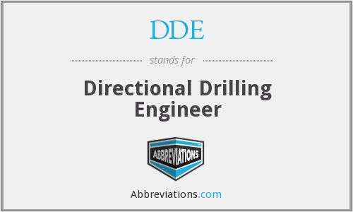DDE - Directional Drilling Engineer