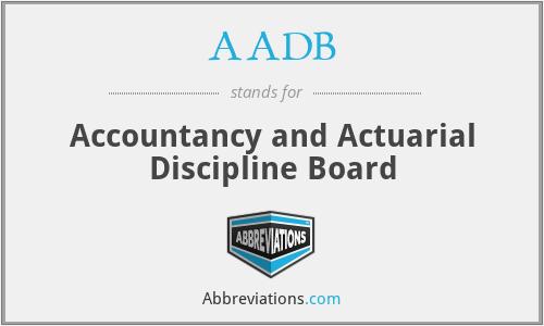 AADB - Accountancy and Actuarial Discipline Board