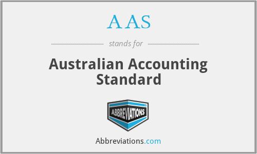 AAS - Australian Accounting Standard