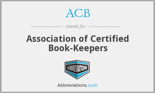 ACB - Association of Certified Book-Keepers