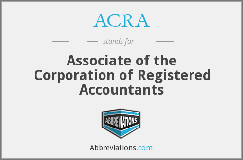 ACRA - Associate of the Corporation of Registered Accountants