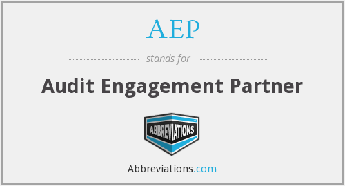 AEP - Audit Engagement Partner
