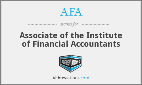 AFA - Associate of the Institute of Financial Accountants