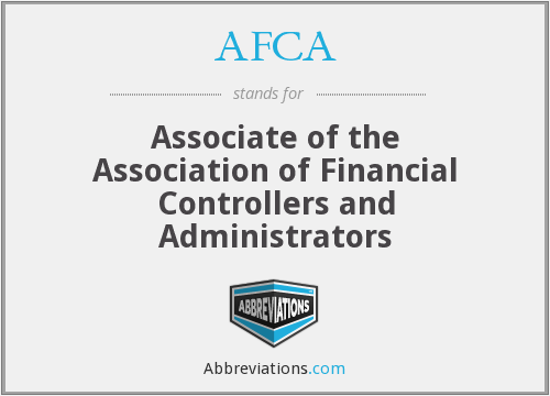 AFCA - Associate of the Association of Financial Controllers and Administrators