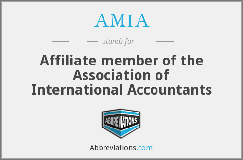 AMIA - Affiliate member of the Association of International Accountants