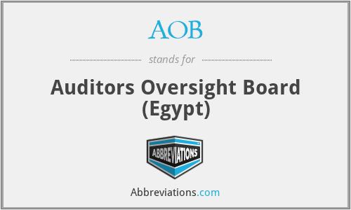 AOB - Auditors Oversight Board (Egypt)