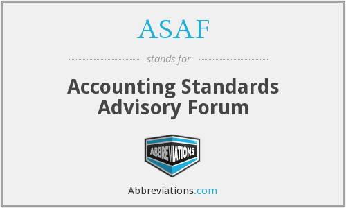 ASAF - Accounting Standards Advisory Forum