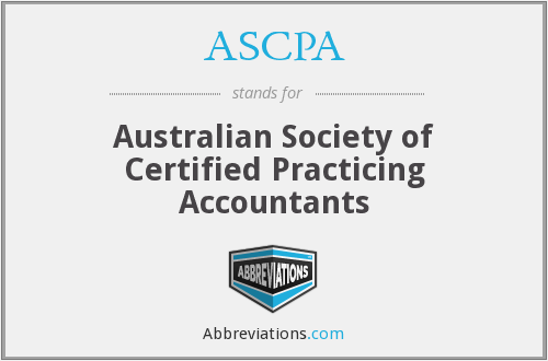 ASCPA - Australian Society of Certified Practicing Accountants