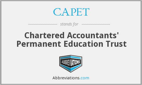 CAPET - Chartered Accountants' Permanent Education Trust