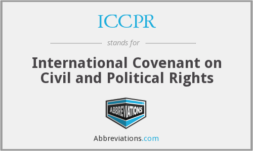 What does ICCPR stand for?