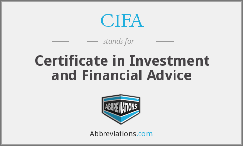 CIFA - Certificate in Investment and Financial Advice