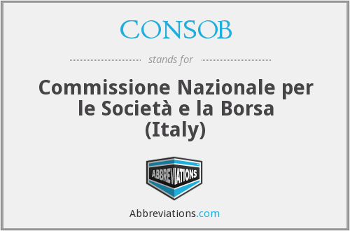 What does CONSOB stand for?