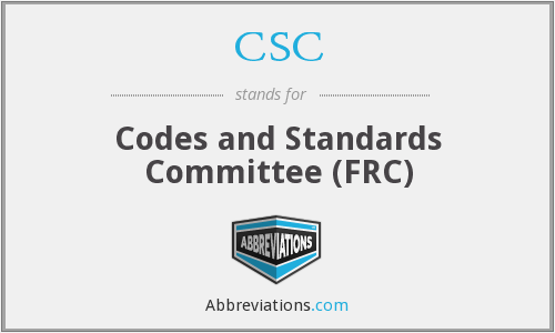 What does CSC stand for?