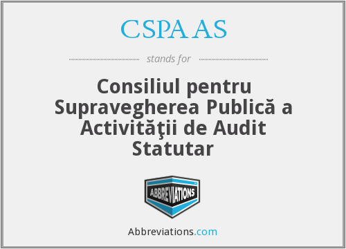 What does CSPAAS stand for?