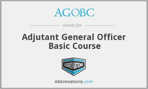 What does AGOBC stand for?