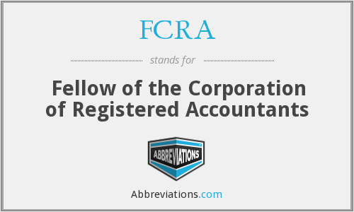 What does FCRA stand for?