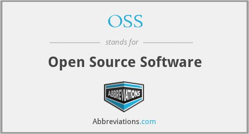 OSS - Open Source Software