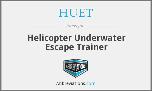HUET - Helicopter Underwater Escape Trainer