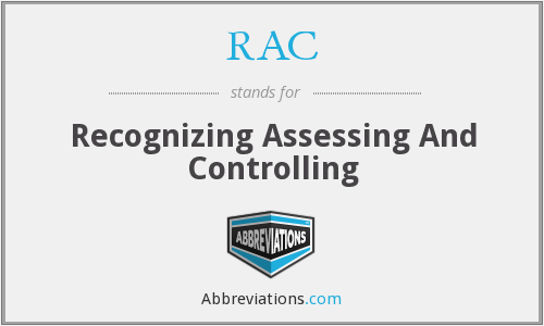 RAC - Recognizing Assessing And Controlling