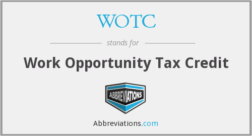 WOTC - Work Opportunity Tax Credit