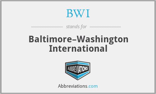 BWI - Baltimore–Washington International