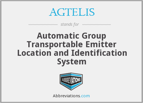 AGTELIS - Automatic Group Transportable Emitter Location and ID System