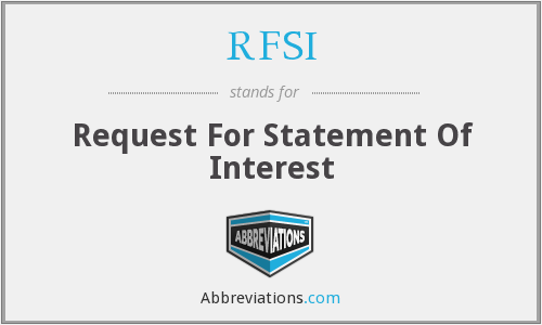RFSI - Request For Statement Of Interest