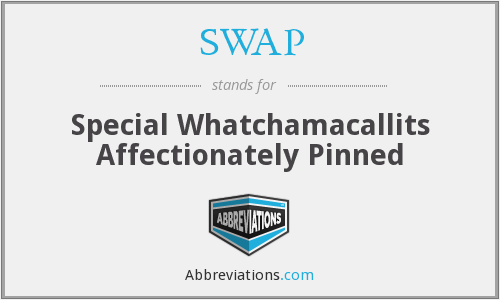 SWAP - Special Whatchamacallits Affectionately Pinned