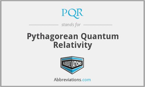 PQR - Pythagorean Quantum Relativity