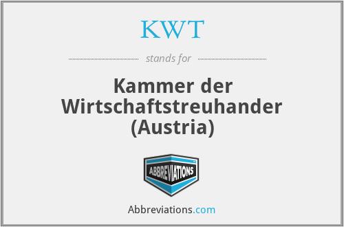 KWT - Kammer der Wirtschaftstreuhander (Austria)