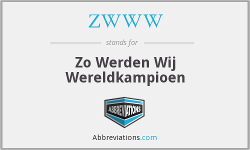 What does ZWWW stand for?