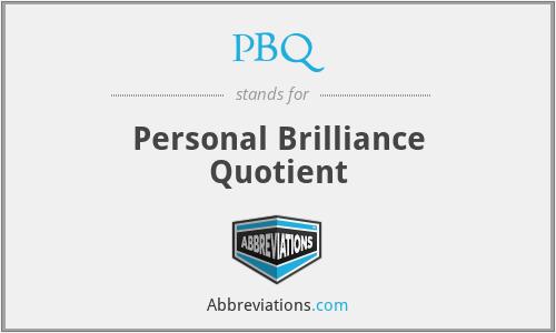 PBQ - Personal Brilliance Quotient