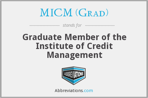 What does MICM (GRAD) stand for?