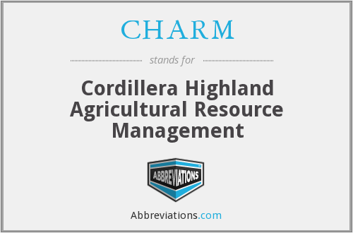 CHARM - Cordillera Highland Agricultural Resource Management