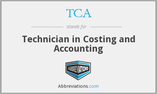 TCA - Technician in Costing and Accounting