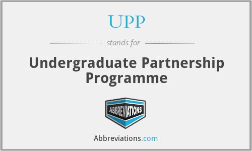 UPP - Undergraduate Partnership Programme